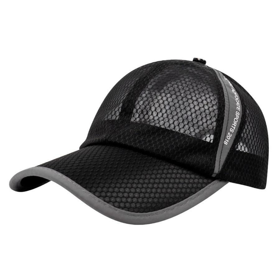 メッシュキャップ 帽子 キャップ ランニング ウォーキング ジョギング マラソン スポーツ UVカット 夏用 メンズ レディース フリーサイズ 10色|freeduck2|10