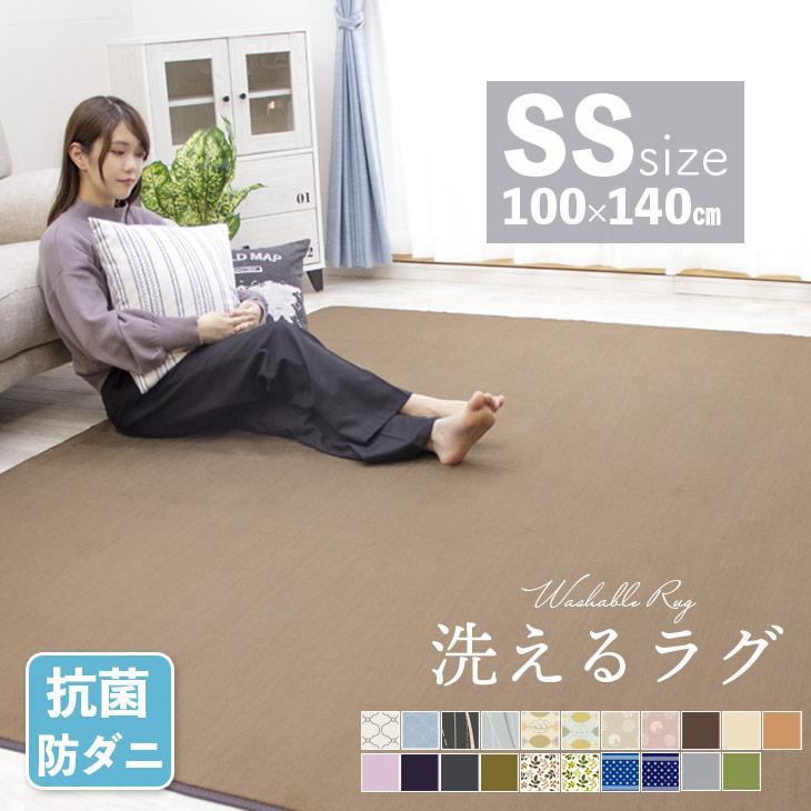 ラグ カーペット ラグマット 洗える 100×140 オールシーズン 絨毯 春用 物品 北欧 新生活 おしゃれ 無料
