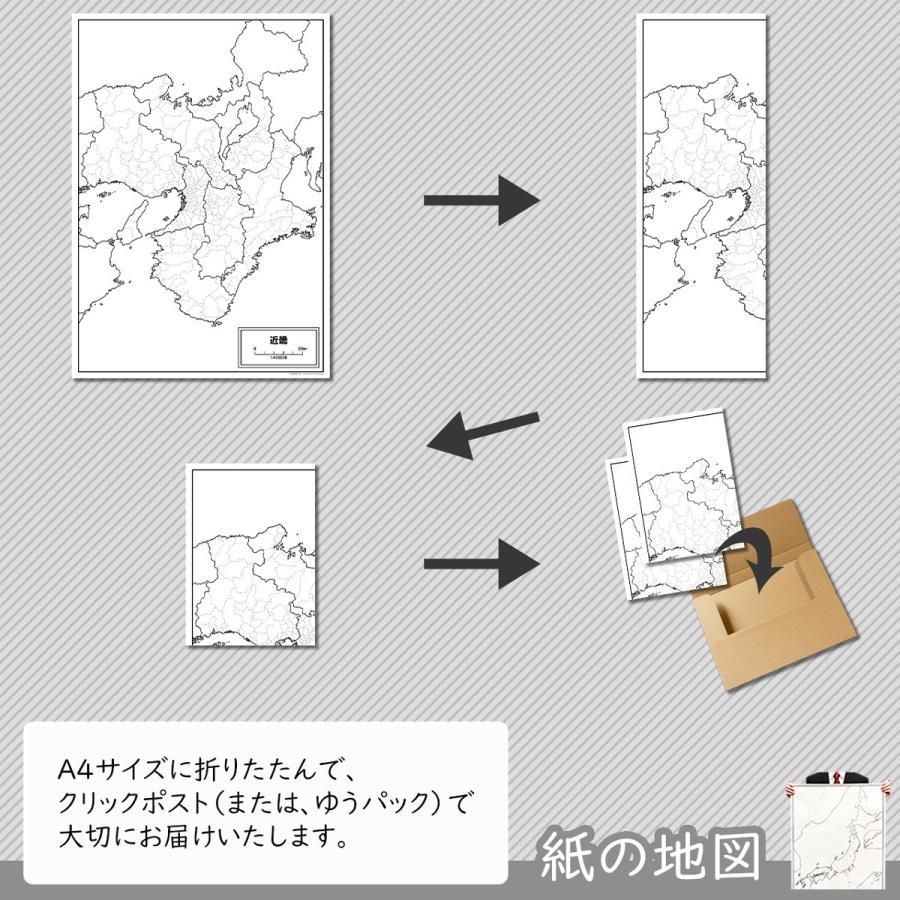 近畿地方の白地図|freemap|05
