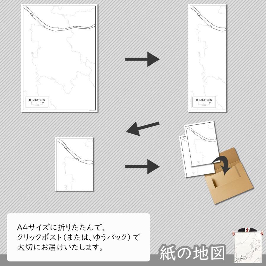 埼玉県行田市の紙の白地図|freemap|05