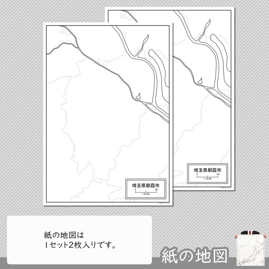 埼玉県朝霞市の紙の白地図|freemap|04