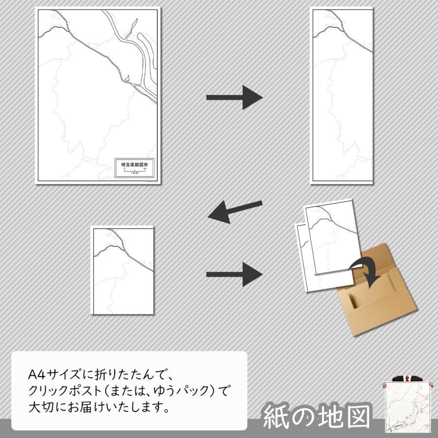埼玉県朝霞市の紙の白地図|freemap|05