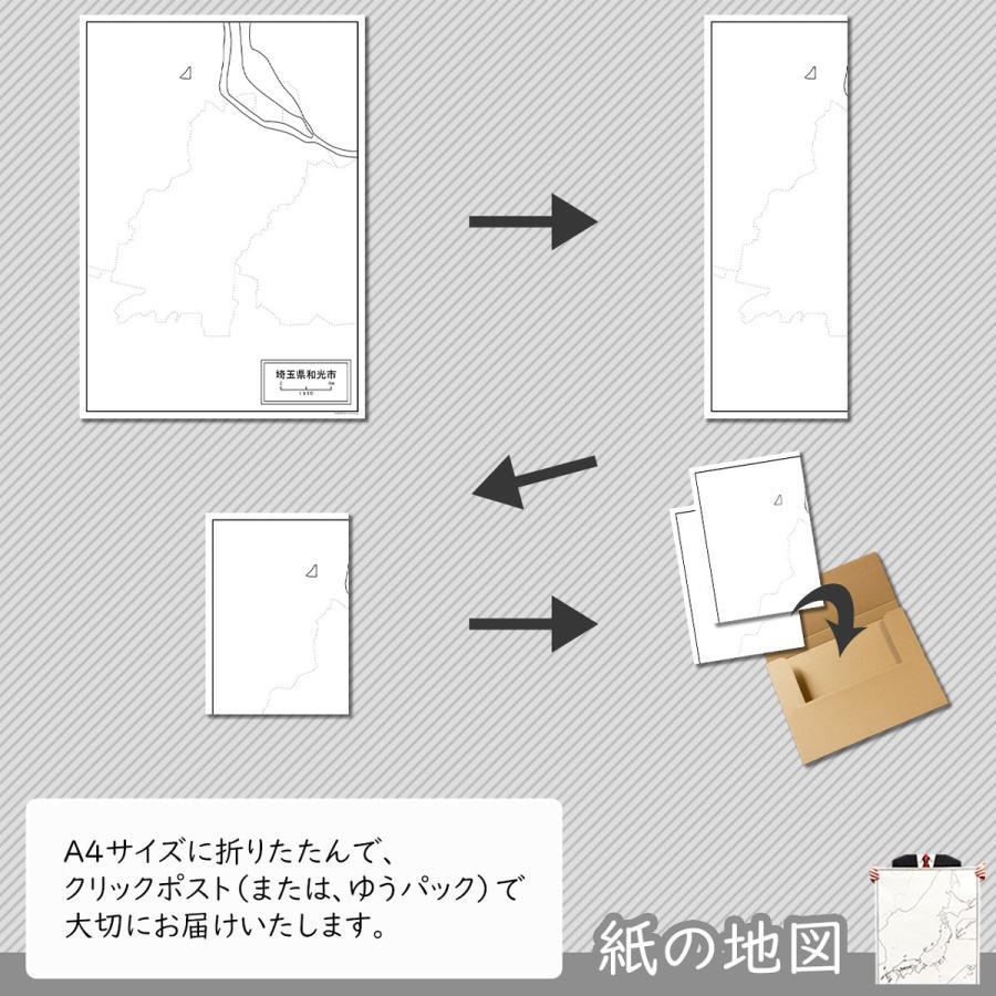 埼玉県和光市の紙の白地図|freemap|05