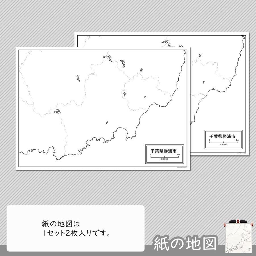 千葉県勝浦市の紙の白地図|freemap|04