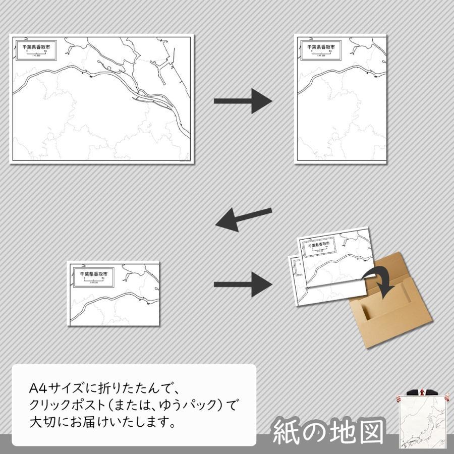 千葉県香取市の紙の白地図|freemap|05