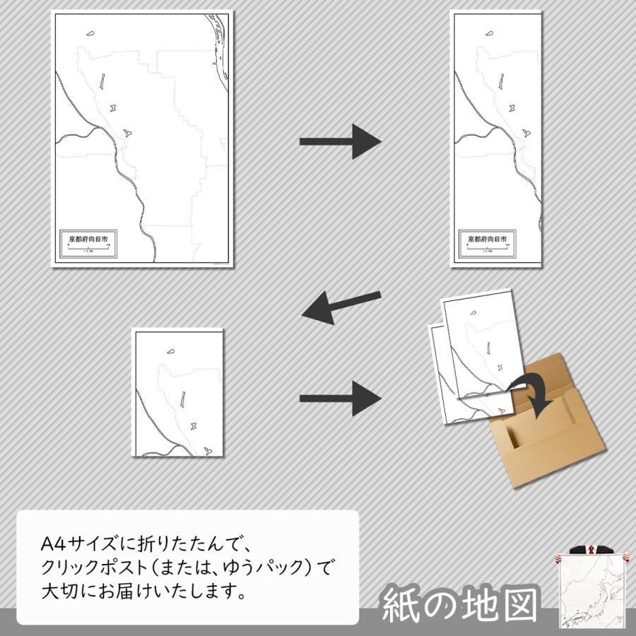 京都府向日市の紙の白地図|freemap|05