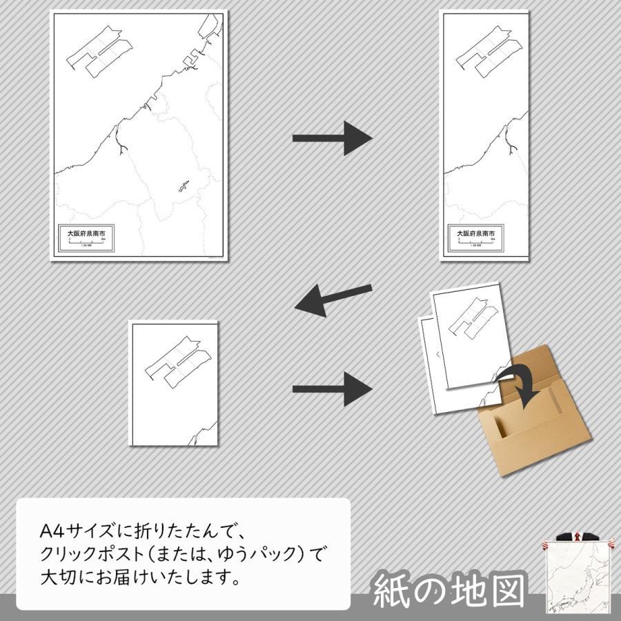 大阪府泉南市の紙の白地図|freemap|05