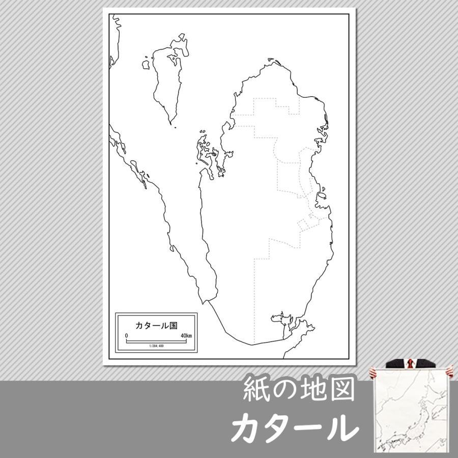 カタールの紙の地図|freemap