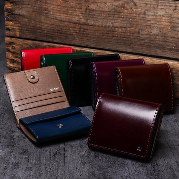 adfcc747972f 財布 二つ折り財布 メンズ レディオアオーダーGLAMOROUSCHI-BI二つ折り ...
