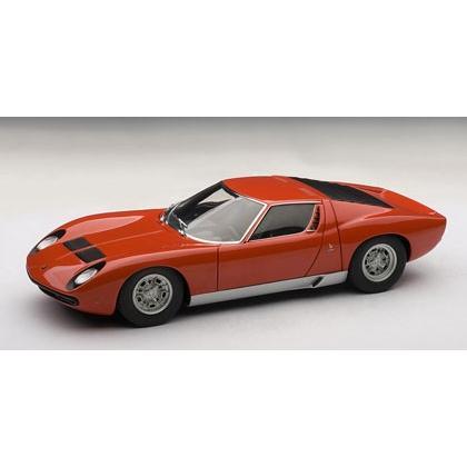 新品74543 オートアート 1/18ランボルギーニ ミウラ SV (レッド/シルバー)