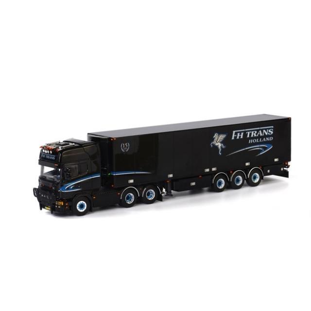 取寄せ 1/50 WSI 01-1620 FH Trans 15 Years SCANIA R Topline Reefer Trailer Thermoking (3 axle)