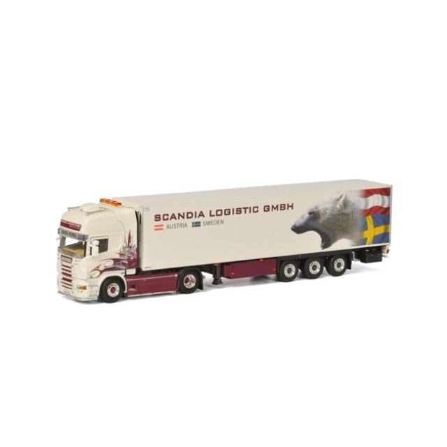 取寄せ 1/50 WSI 01-1867 Scandia Logistic SCANIA R Topline Reefer Trailer Thermoking (3 axle)