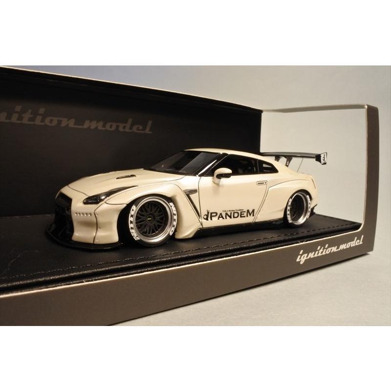 新品IG1155 イグニッションモデル1/43 PANDEM R35 GT-R 白い