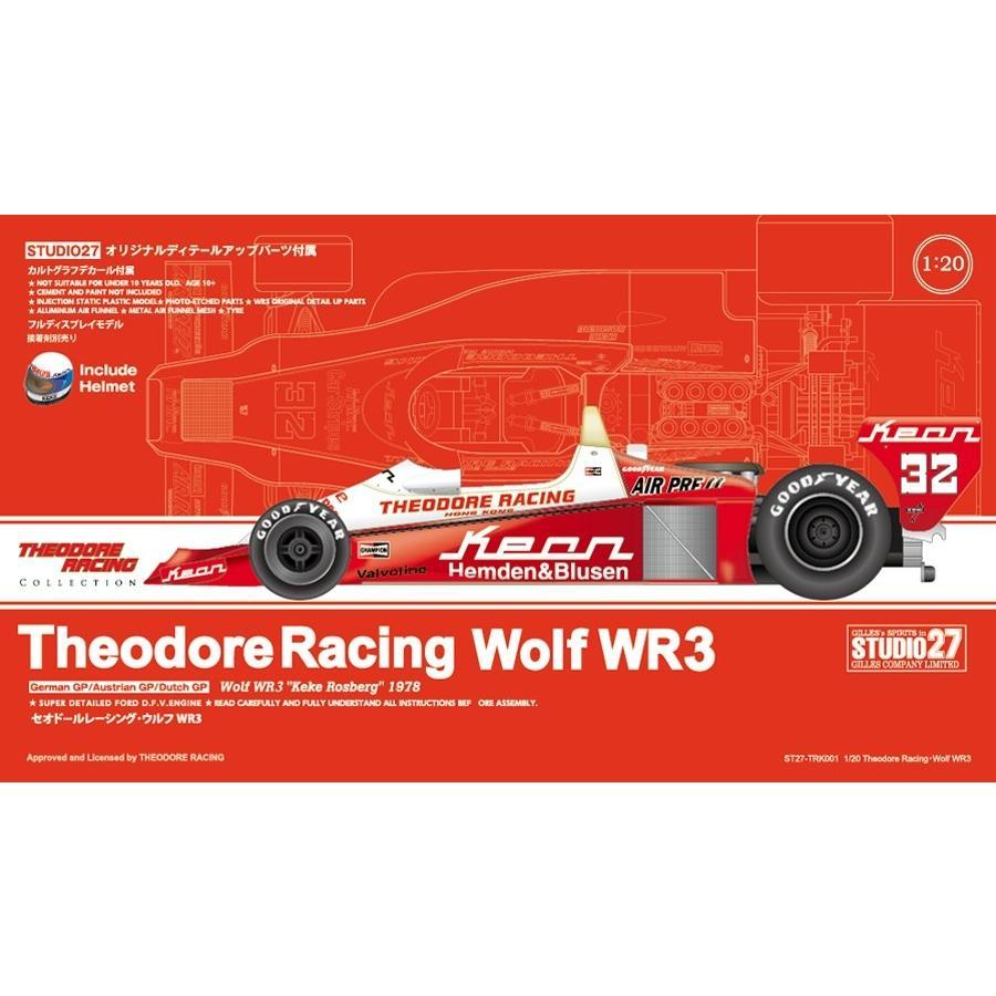 取寄せTRK001 スタジオ27 1/20 Theodore Racing・Wolf WR3 1978