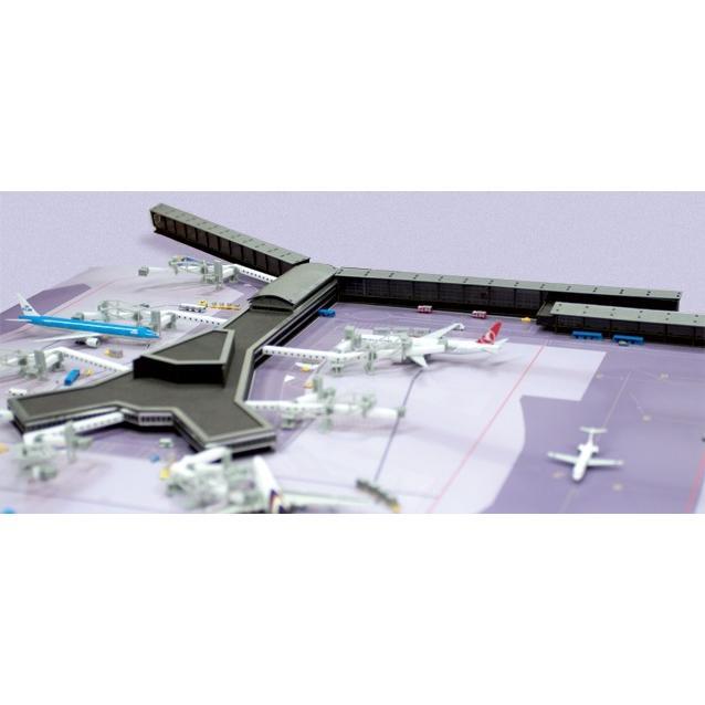 1/500 空港ジオラマターミナル オランダ・スキポール空港 F接続桟橋 [527514] ヘルパ/新品