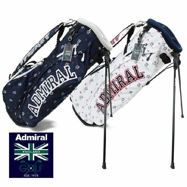 アドミラル ゴルフ Newモノグラムスタンドバッグ 9.0型ADMIRAL GOLF ADMG9SC6 キャディーバッグ 46インチ対応 5分割 スタンド式