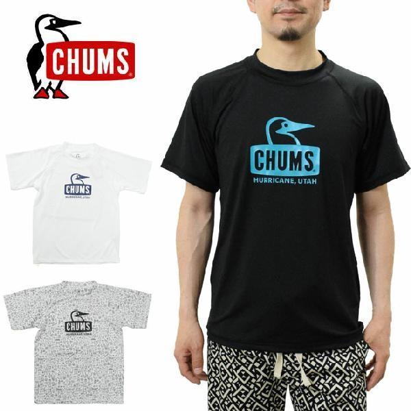 チャムス ラッシュガード ブービーフェイス Tシャツ メンズ CHUMS CH01-1530 Splash Booby Face Rashguard