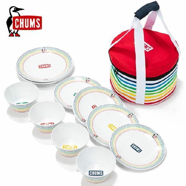 チャムス メラミン ディッシュセット CHUMS CH62-1237 Melamine Dish Set アウトドア お皿 キャンプ BBQ