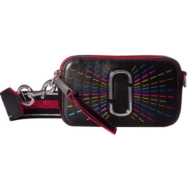 マークジェイコブス ショルダーバッグ MARC JACOBS Snapshot Confetti Leather Camera Bag スナップショット コンフェッティ カメラバッグ (ブラックマルチ)
