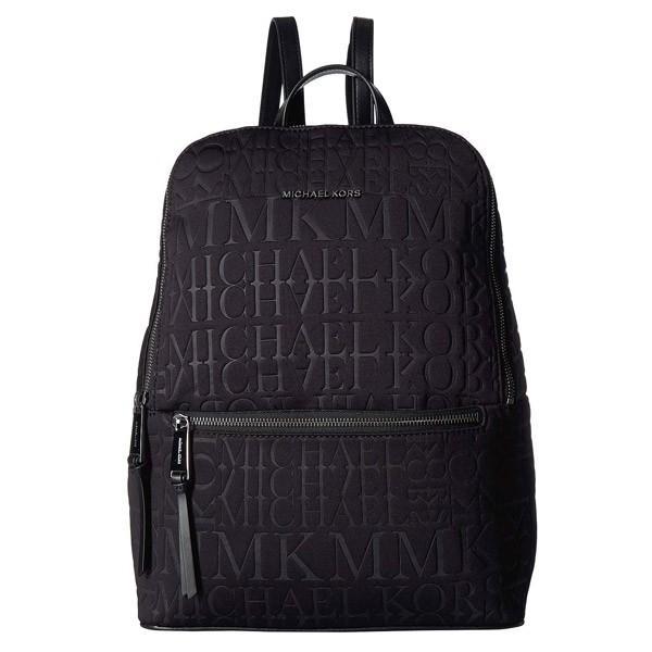 マイケルコース バックパック Michael Michael Kors Toby Neoprene Logo Backpack (黒/銀) ネオプレン ロゴ バックパック (ブラック)