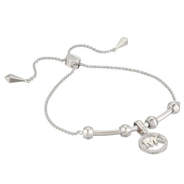 驚きの値段で マイケルコース ブレスレット Michael Kors Custom Kors Sterling Silver Logo Starter Bracelet (Silver) ロゴ アジャスター バングル (シルバー), 南蒲原郡 3627158d