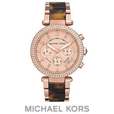 【一部予約!】 マイケルコース パーカー Bracelet 腕時計 Parker Chronograph Chronograph Bracelet Watch 39mm (RoseGold/Tortoise) パーカー クロノグラフ 腕時計 (ローズゴールド/トータス), 富山村:2c0c2189 --- opencandb.online