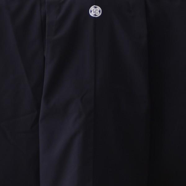 七五三 3歳 5歳 男の子 着物 レンタル 兄弟 おそろい 双子 セット シンプルな黒紋服 (紋白)★簡単な着付けマニュアル付き! 子供着物〔羽織 袴〕753|frou-frou|04
