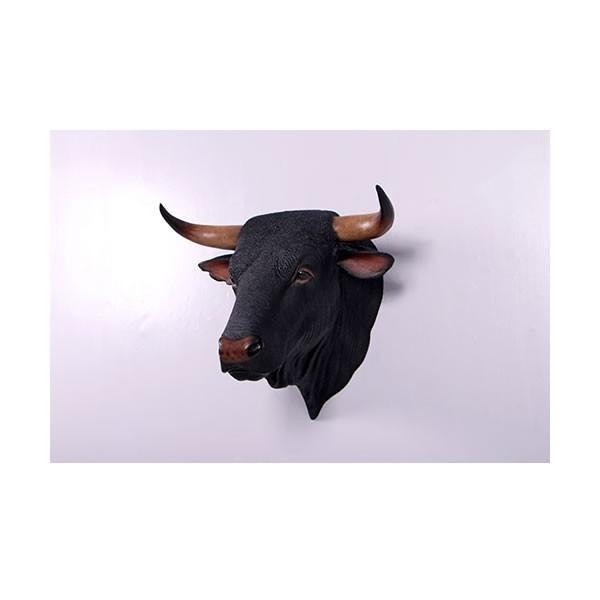 黒毛牛の頭部・壁掛け FRPアニマルオブジェ 即納可 frps 04
