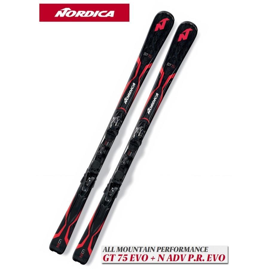 17ノルディカNORDICA初心者用スキー「GT 75 EVO」+金具「N ADV P.R. EVO」