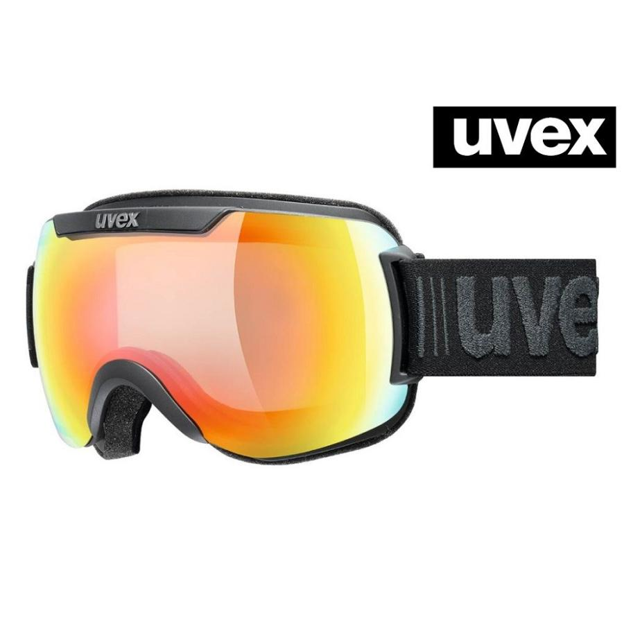 2019-2020 UVEX(ウベックス)スキーゴーグル「uvex downhill 2000 V」≪variomatic調光レンズ≫(ブラックマット/レインボー)5551232030
