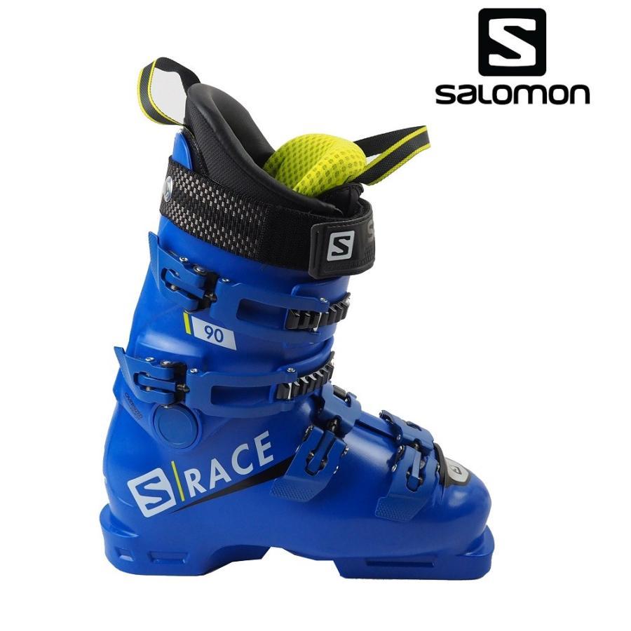 【全国送料無料】19サロモン(SALOMON)ジュニア・レディース競技用モデル「S/RACE 90」24.5cm(Race青/Acid)L40547200