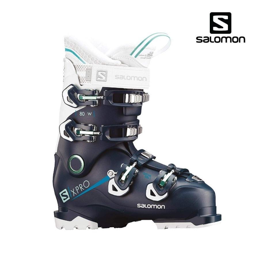 【全国送料無料】19サロモン(SALOMON)レディースオールラウンドスキーブーツ「X PRO 80 W」Petrol 青