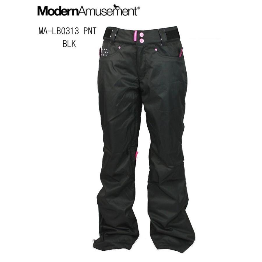 ModernAmusement(モダンアミューズメント)レディース女性用スノーボードウエアパンツ「MA-LB0313 PNT」ブラック