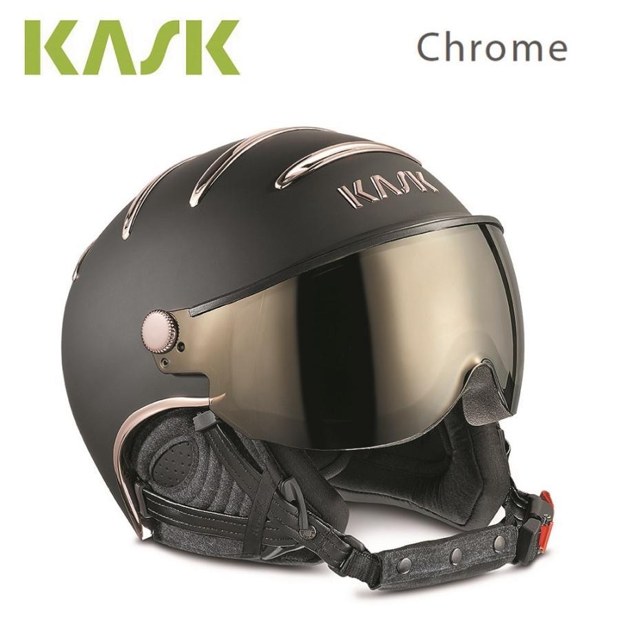 KASK(カスク)ゴーグル付ヘルメット「バイザー一体型ヘルメット Chrome(クローム)/黒/ピンク ゴールド」SHE00038.257