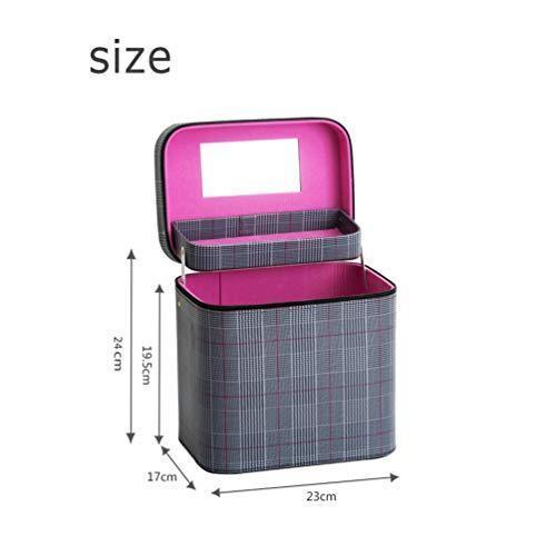 SZTulip コスメボックス メイクボックス 大容量メイクケース 化粧品収納ケース 小物入れ 鏡付き 化粧箱 (コーヒ? fsxray 03