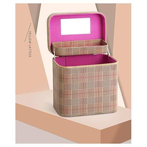 SZTulip コスメボックス メイクボックス 大容量メイクケース 化粧品収納ケース 小物入れ 鏡付き 化粧箱 (コーヒ? fsxray 06