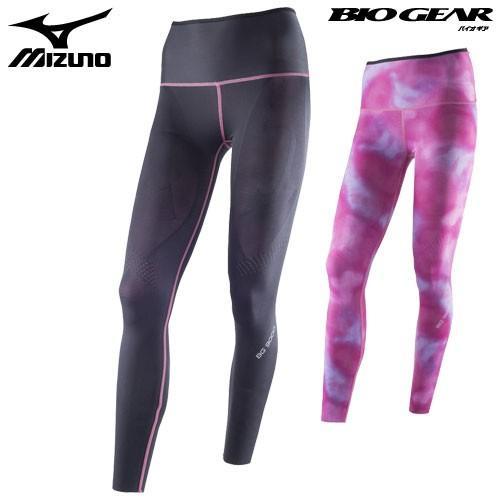 ミズノ MIZUNO バイオギアタイツ ロング BG9000 K2MJ5D02 女性用 ブラック×ピンク S