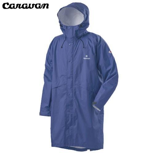 キャラバン Caravan エアリファイン ライト・レインポンチョ ブルー L