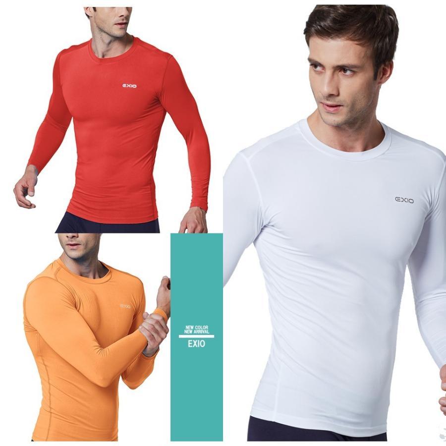 アンダーシャツ 長袖 丸首 メンズ コンプレッションウェア コンプレッション インナーシャツ アンダーウェア ゴルフウェア ゴルフ 野球 全7色 EXIO エクシオ fuerzajapan 12