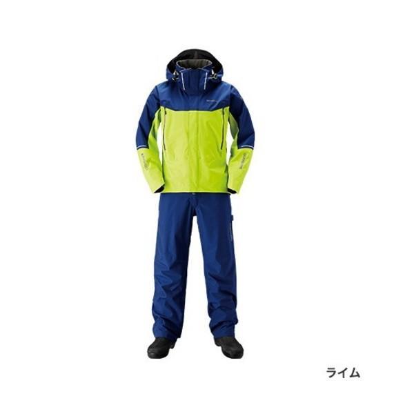 ≪'19年3月新商品!≫ シマノ DSアドバンススーツ RA-025S ライム 2XLサイズ