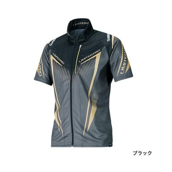 ≪'19年3月新商品!≫ シマノ フルジップシャツ リミテッド プロ(半袖) SH-012S ブラック Mサイズ