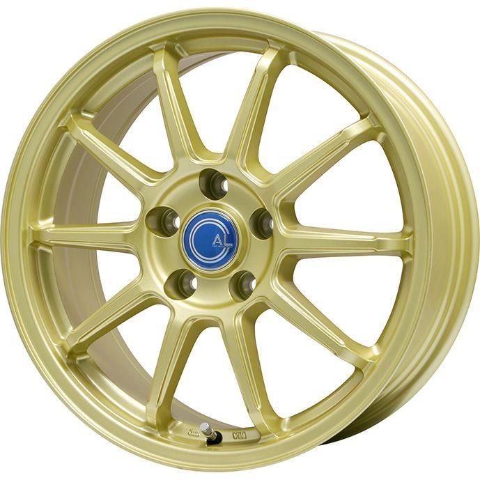225/60R18 18インチ BRANDLE-LINE カルッシャー ゴールド 7.50-18 MICHELIN ミシュラン クロスクライメート SUV オールシーズンタイヤ ホイールセット