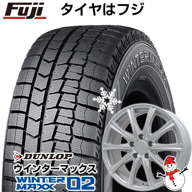 スタッドレスタイヤ ホイールセット ダンロップ ウインターマックス02 WM02 165/55R14 14インチ BRANDLE ER16 4.5J 4.50-14