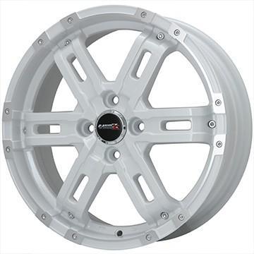 165/65R14 14インチ BIGWAY B-MUD Z (ホワイト/リムポリッシュ) 4.50-14 DUNLOP ダンロップ オールシーズンMAXX AS1 オールシーズンタイヤ ホイールセット