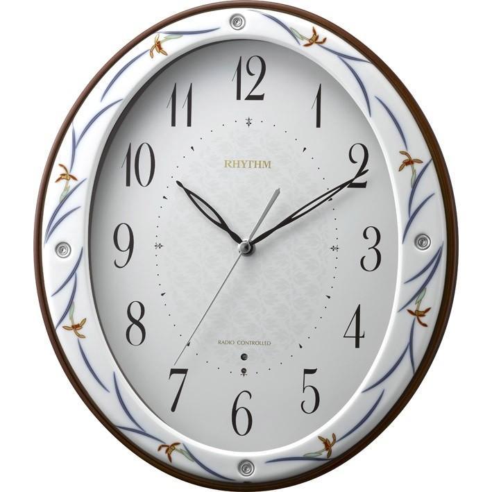 RHYTHMリズム時計高級掛時計電波時計染錦春蘭(そめにしきしゅんらん)485 8MY485HG11