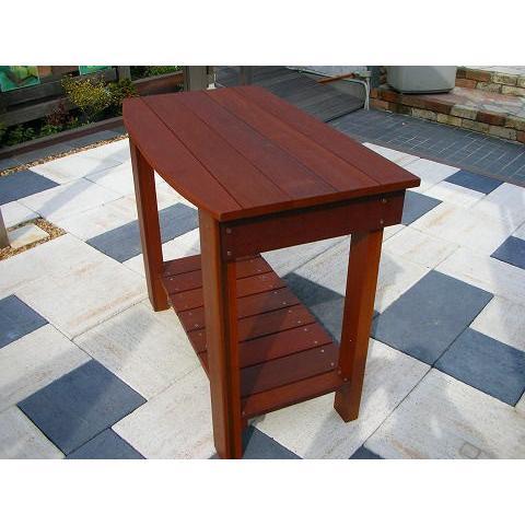 腰高ワークテーブル ハードウッド 天然木 高耐久 丈夫 送料代引き無料