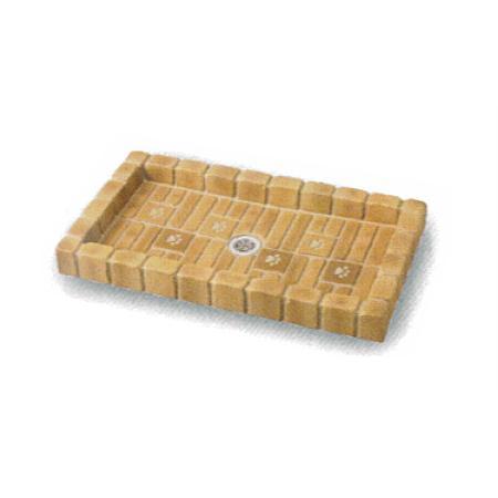 シャワープレイスパン ブリックタイプ 犬猫 ペット用 塗装仕上げコンクリート製 水受け 動物用 庭用 ガーデン ni