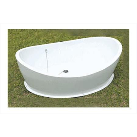 シャワープレイスパン ペットバス 犬猫 ペット用 FRP製 水受け 動物用 庭用 ガーデン ni