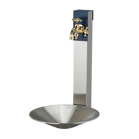 水栓柱·立水栓 スタンド+ポットセット  ·リーナアロン 650スタンド   (ツイン 蛇口1個)  ·シャインポット un