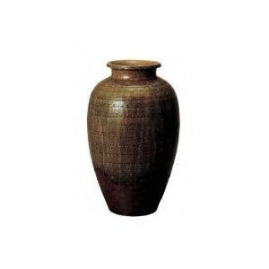 SS-P6025-09 ビードロ松皮壷型花瓶 15号